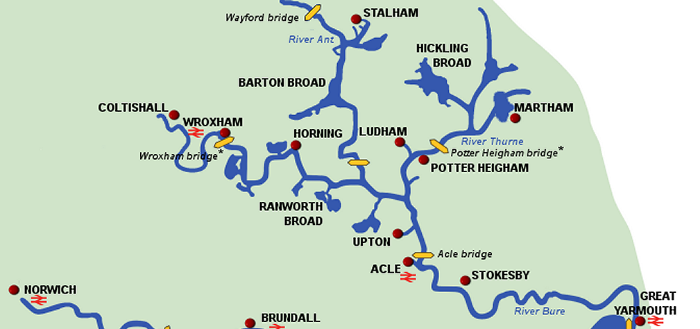 Norfolk Broads Map